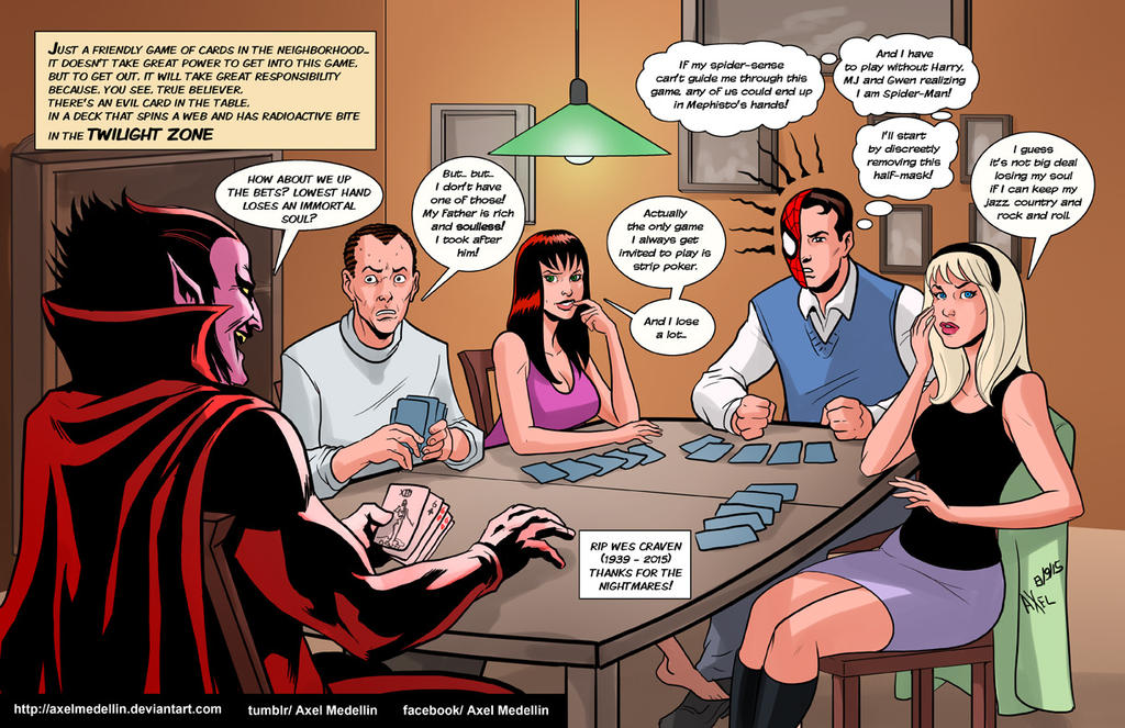 TLIID 257. The Spider-Man gang in Dealer's choice by AxelMedellin