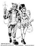 INKtober 2015 and Drawlloween Day 13. Frankenstein
