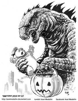 INKtober 2015 and Drawlloween Day 22. Candy