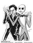 INKtober 2015 and Drawlloween Day 24. Skeleton