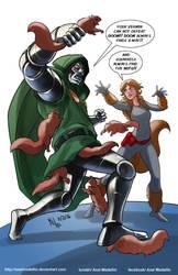 TLIID 280. Squirrel Girl vs Dr Doom by AxelMedellin
