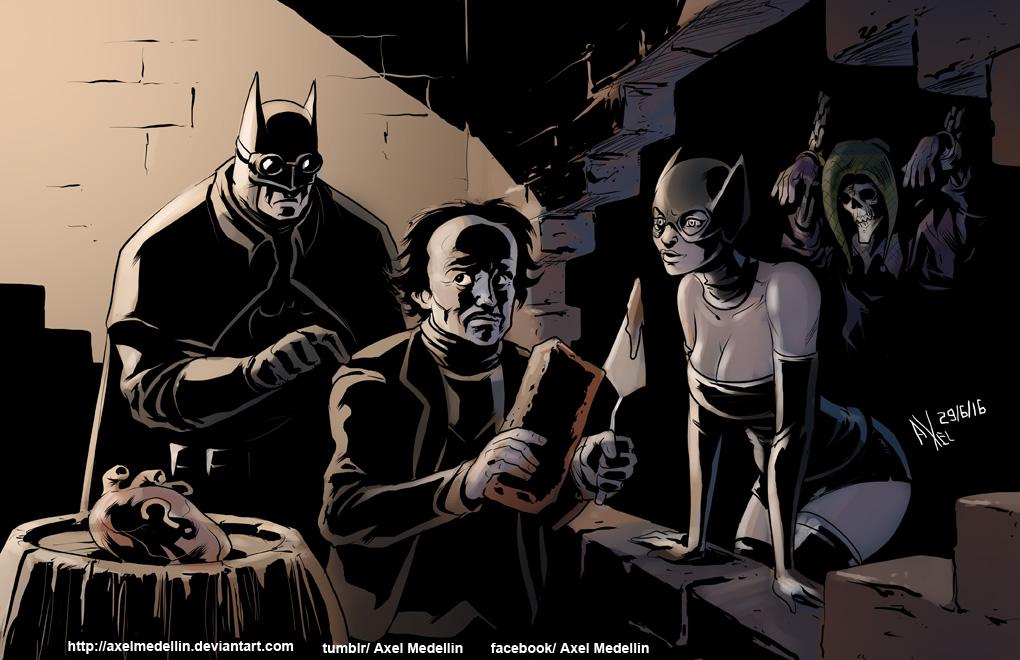TLIID 297. Batman and Edgar Allan Poe by AxelMedellin
