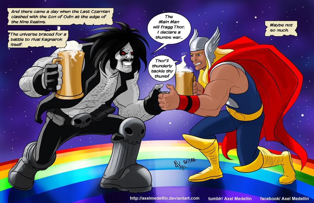 TLIID 298. Thor vs Lobo by AxelMedellin