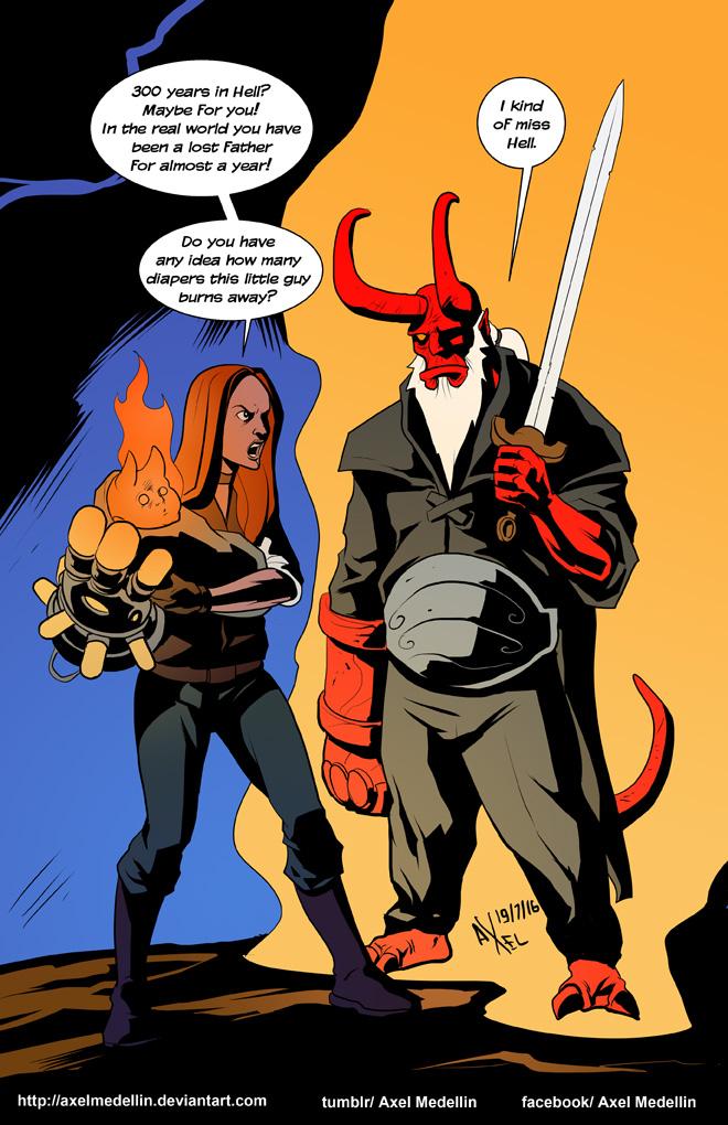 TLIID 300. Hellboy in 300 years by AxelMedellin
