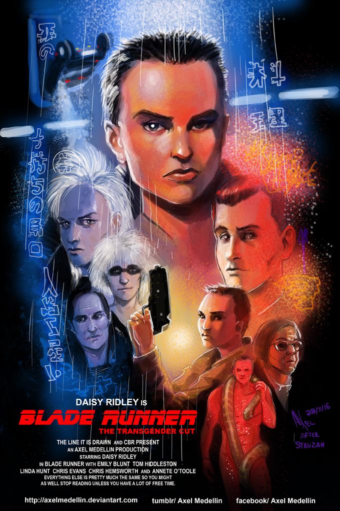 TLIID 301. Gender reversed Blade Runner by AxelMedellin