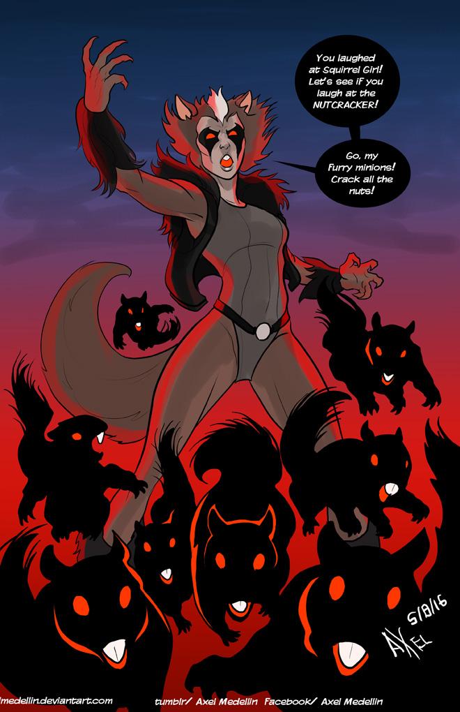 TLIID 302. Evil Squirrel Girl by AxelMedellin