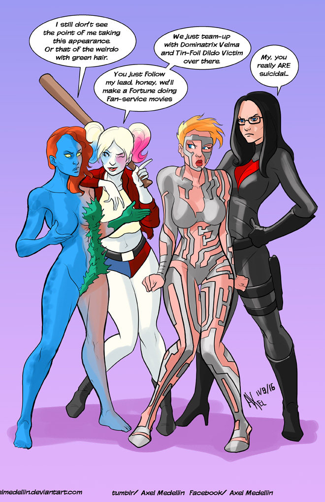TLIID 303. Harley, Mystique, Baroness, C Breaker by AxelMedellin