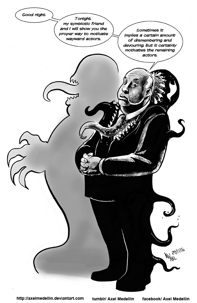 TLIID 318. Alfred Hitchcock and Venom by AxelMedellin