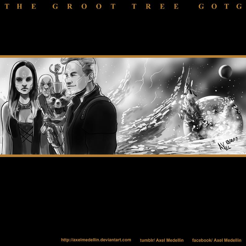 TLIID 328. GOTG in The Groot Tree by AxelMedellin