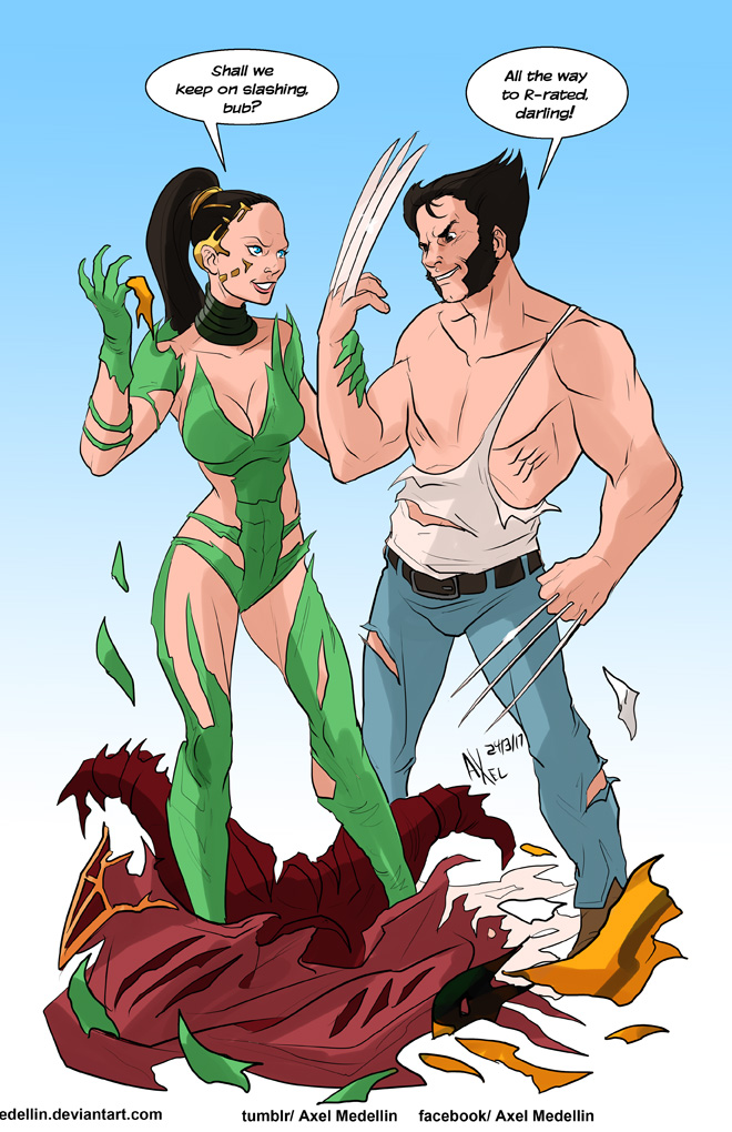 TLIID 334. Rita Repulsa vs Wolverine by AxelMedellin