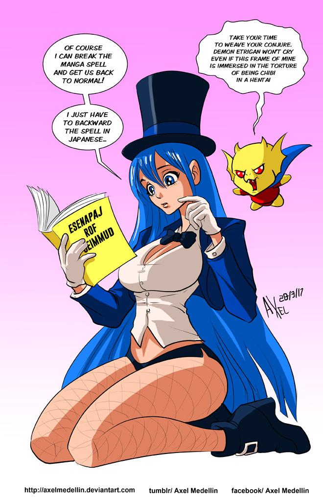 TLIID 335. Zatanna turned manga. Oh, my. by AxelMedellin