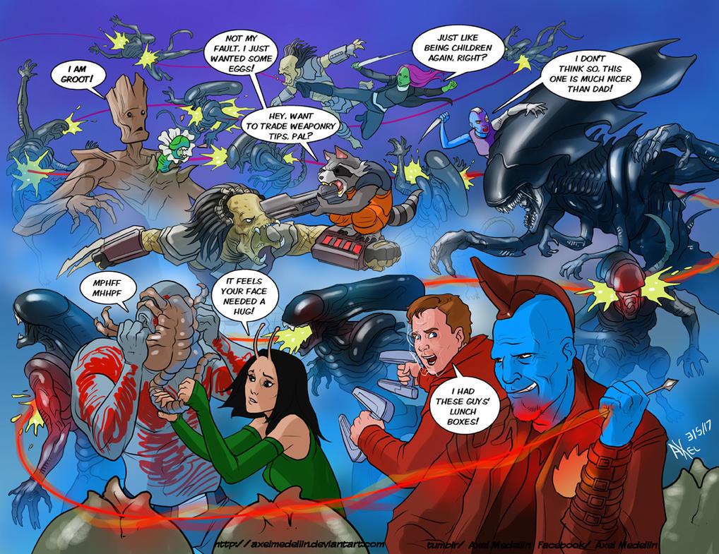 TLIID 340. GOTG vs Aliens vs Predator. Oh, yes. by AxelMedellin