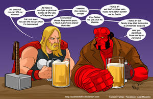 TLIID 366. Thor vs Hellboy by AxelMedellin