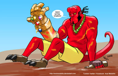 TLIID 390. Hellboy and the Infinity Gauntlet