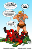 TLIID 392. Deadpool and He-Man by AxelMedellin