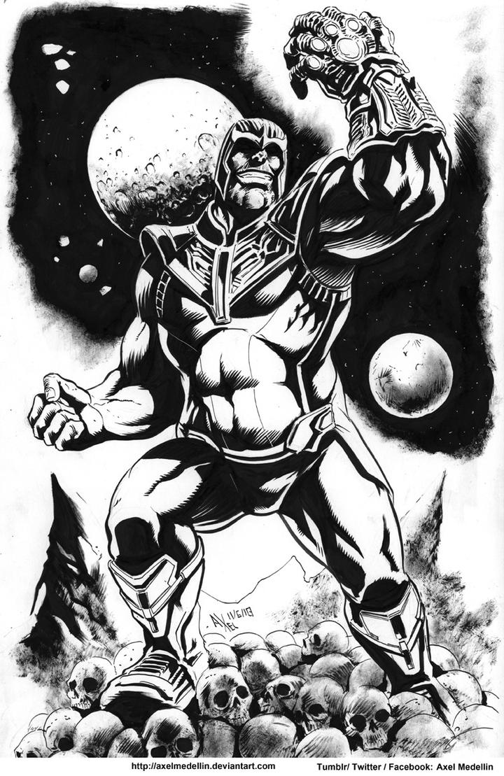 Pre-SDCC comissions... like this Thanos by AxelMedellin