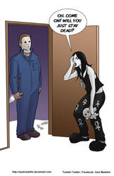 TLIID 414. Michael Myers vs Death of the Endless by AxelMedellin