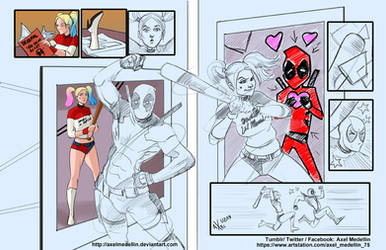 TLIID 428. Take On Me with Harley and Deadpool by AxelMedellin