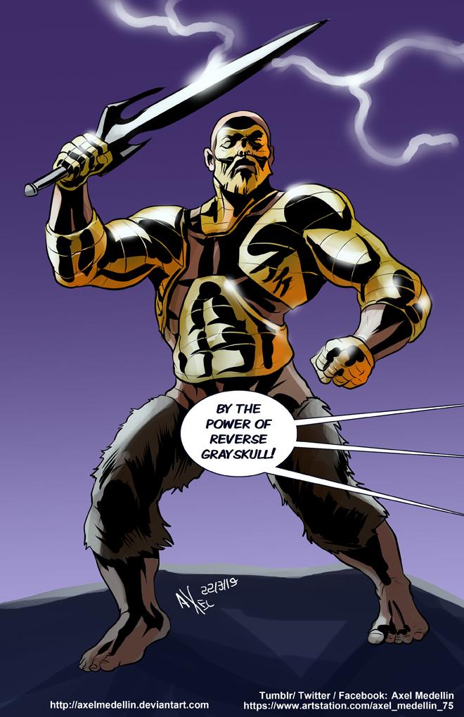 TLIID 435. Evil doppelganger He-Man by AxelMedellin