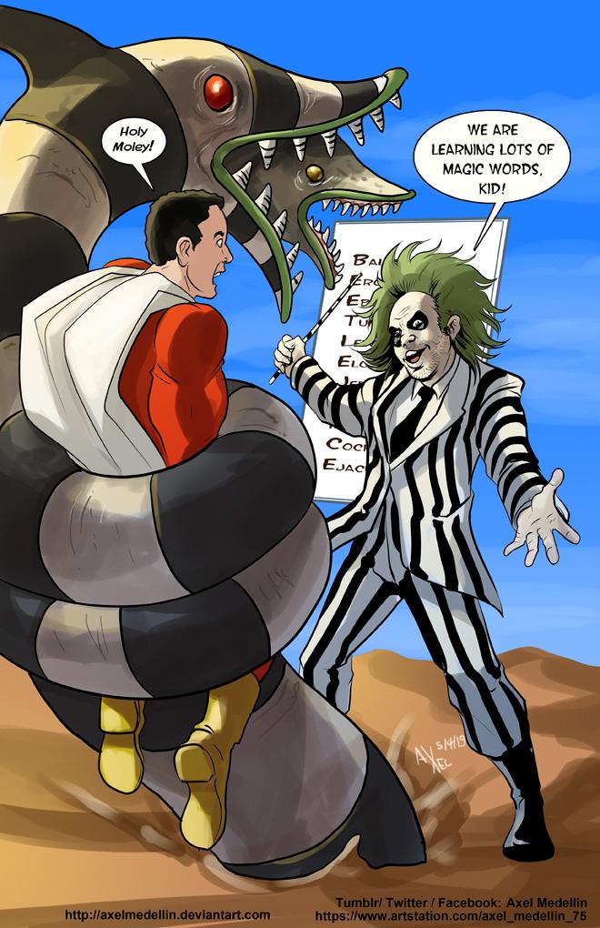 TLIID 437 : Shazam vs Beetlejuice by AxelMedellin