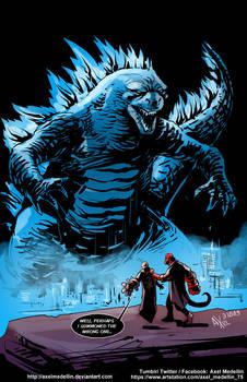 TLIID 445. Godzilla vs Hellboy