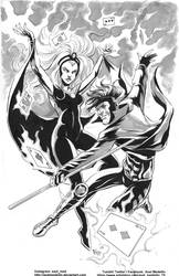 Storm and Gambit. SDCC Commission