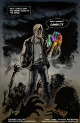 TLIID 450. Rick Grimes and the Infinity Gauntlet by AxelMedellin