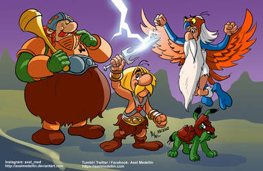 TLIID 487. Asterix as He-Man