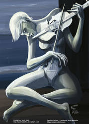 TLIID 539. White Violin as The Old Guitarist