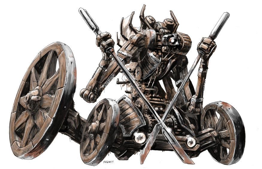 Road bot warrior... by AxelMedellin