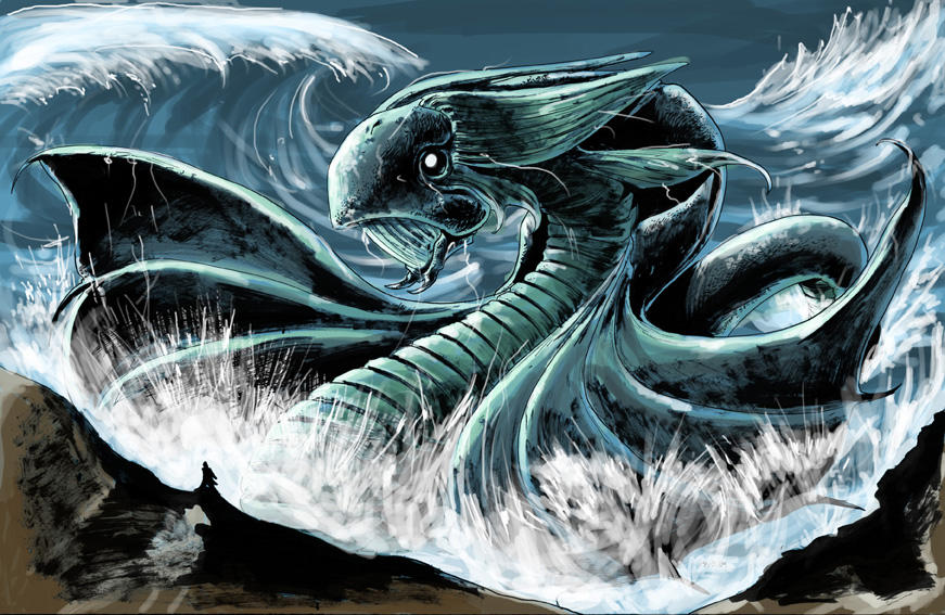 Sea serpent by AxelMedellin
