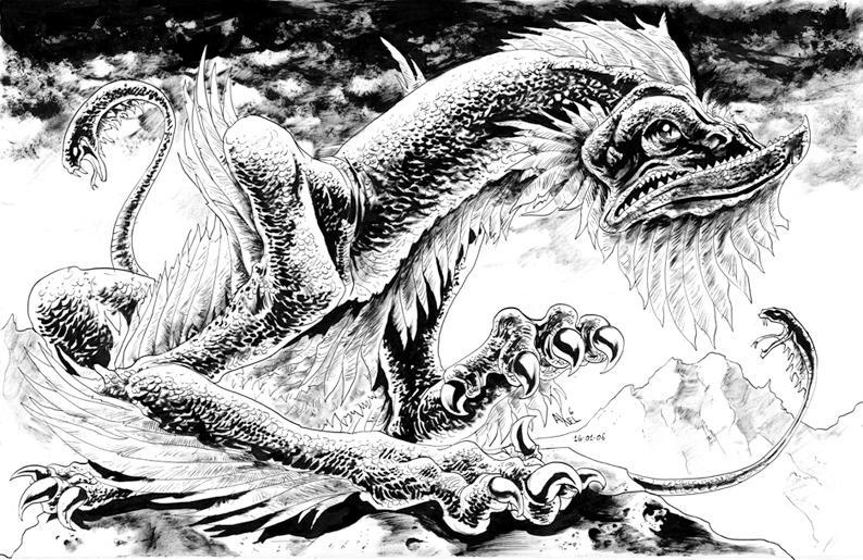 Basilisk: inks by AxelMedellin