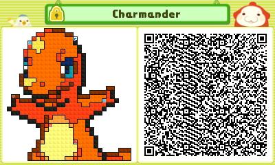 Pushmo QR Codes - Pokemon - Charmander by TGiuseppe94