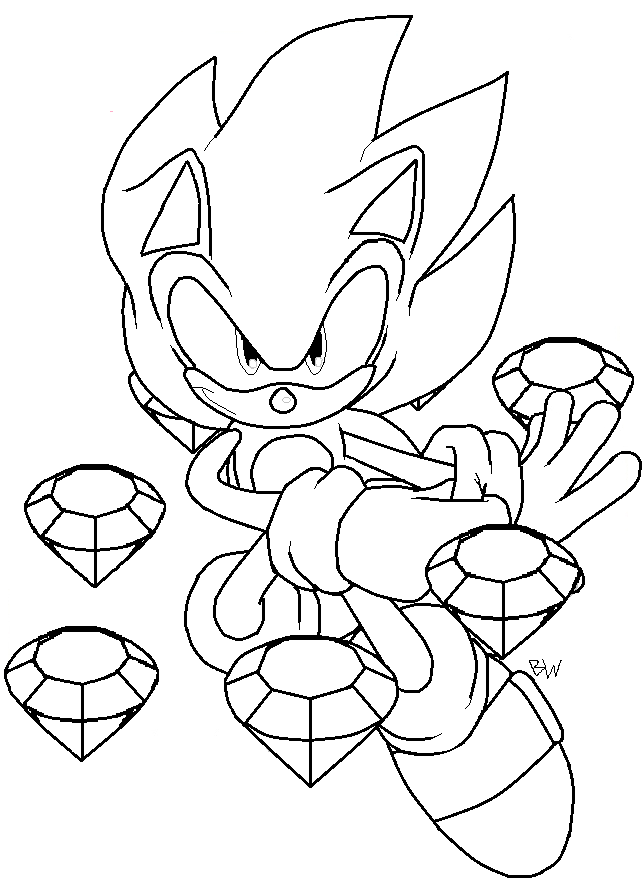 Super Sonic Drawing By Bswprecious On Deviantart