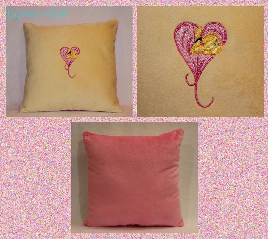 Fluttershy Heart Pillow by Yukizeal