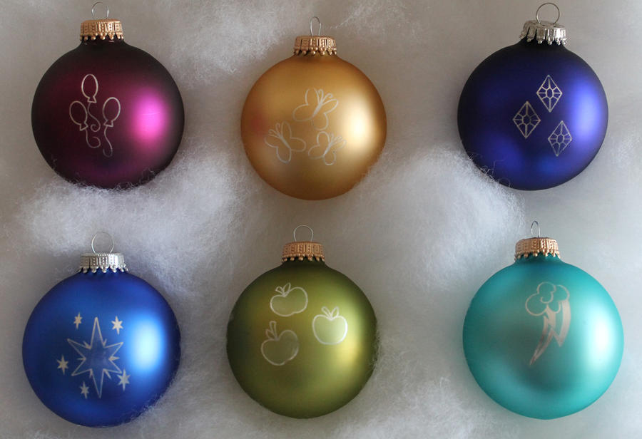 My Little Pony Christmas Ornaments by Yukizeal ...