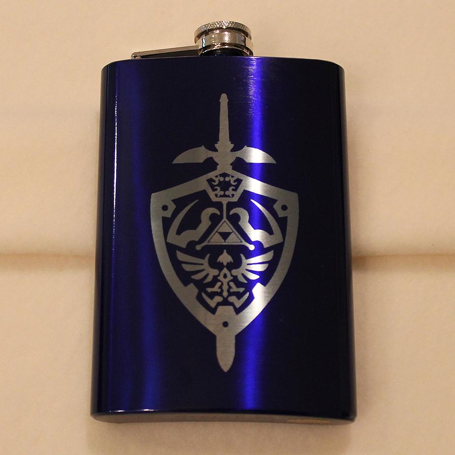 Hylian Shield blue flask by Yukizeal