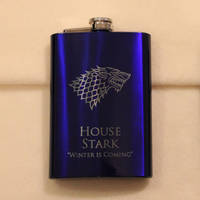 Game of Thrones - House Stark blue flask