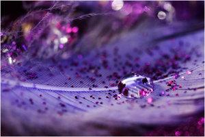 Glitter Drop by cblue by h2o-macro