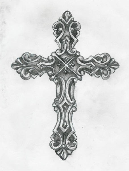 Cross tattoo by birdofflame on deviantart for Cool detailed drawings