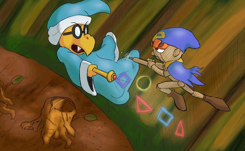 Mario RPG - Geno vs Kamek