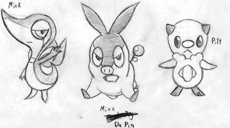 Pokemon BW Starters by Mega-Matt-X