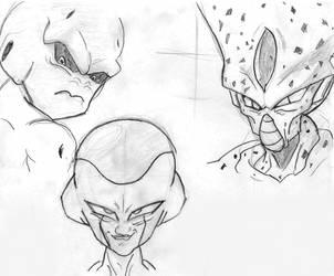 DBZ Villains by Mega-Matt-X