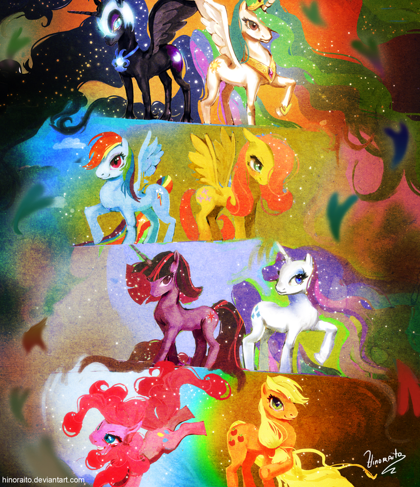 MLP FIM: Epic ponies by hinoraito
