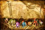 MLP FIM: Commission - Steampunk ponies
