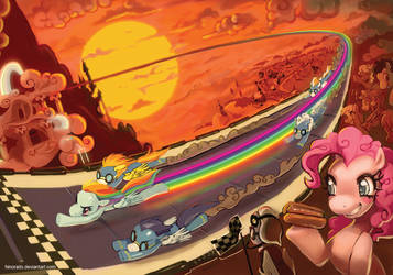 MLP FIM print: Top Gear Rainbow Dash by hinoraito