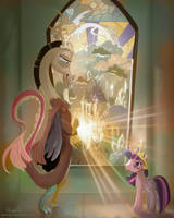 MLP FIM: Discord and Twilight by hinoraito