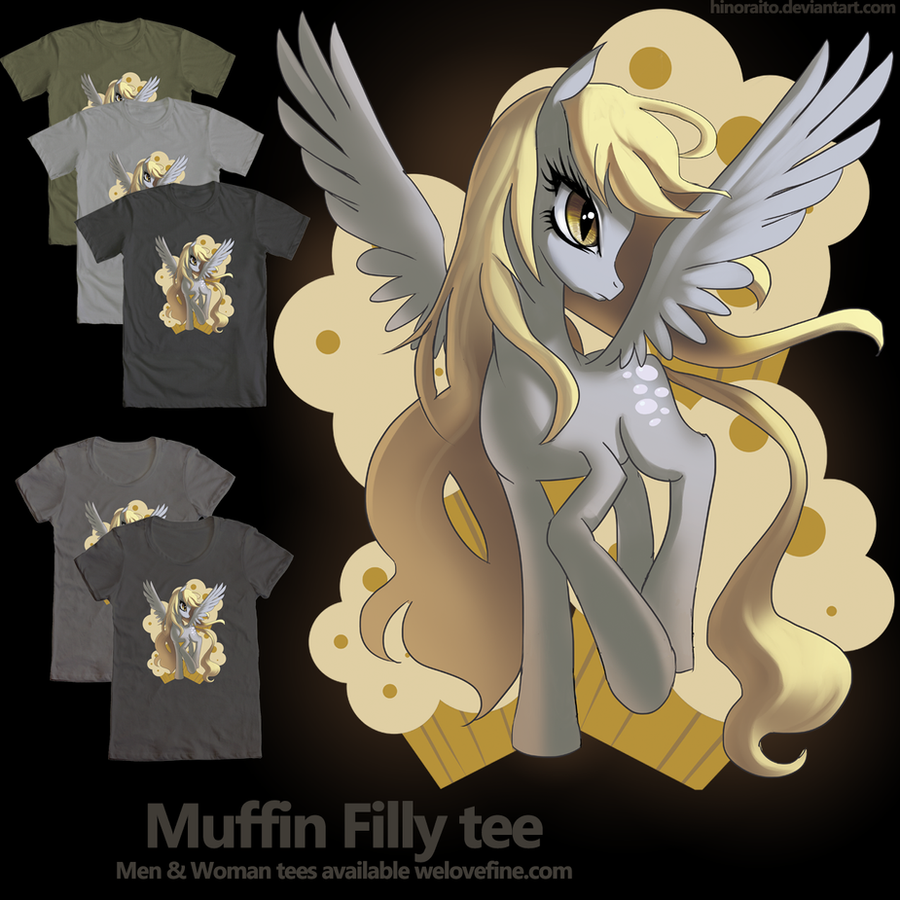 Welovefine: MLP FIM - Derpy the muffin filly tee by hinoraito