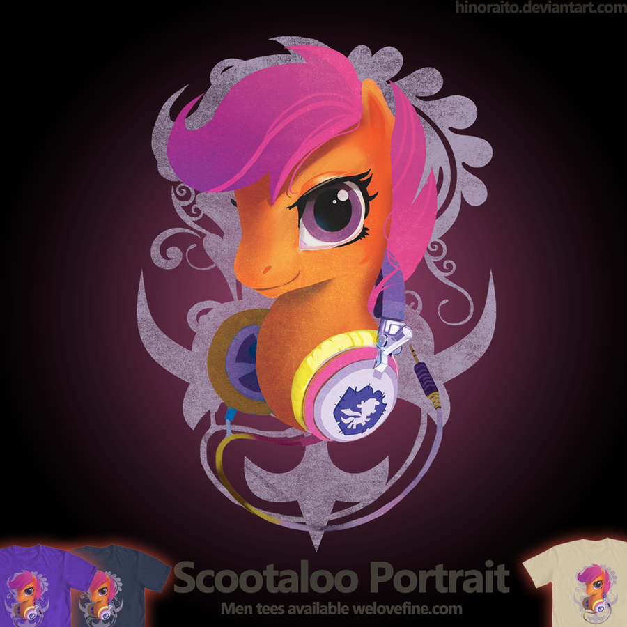 Welovefine: Scootaloo Headphone Portrait by hinoraito