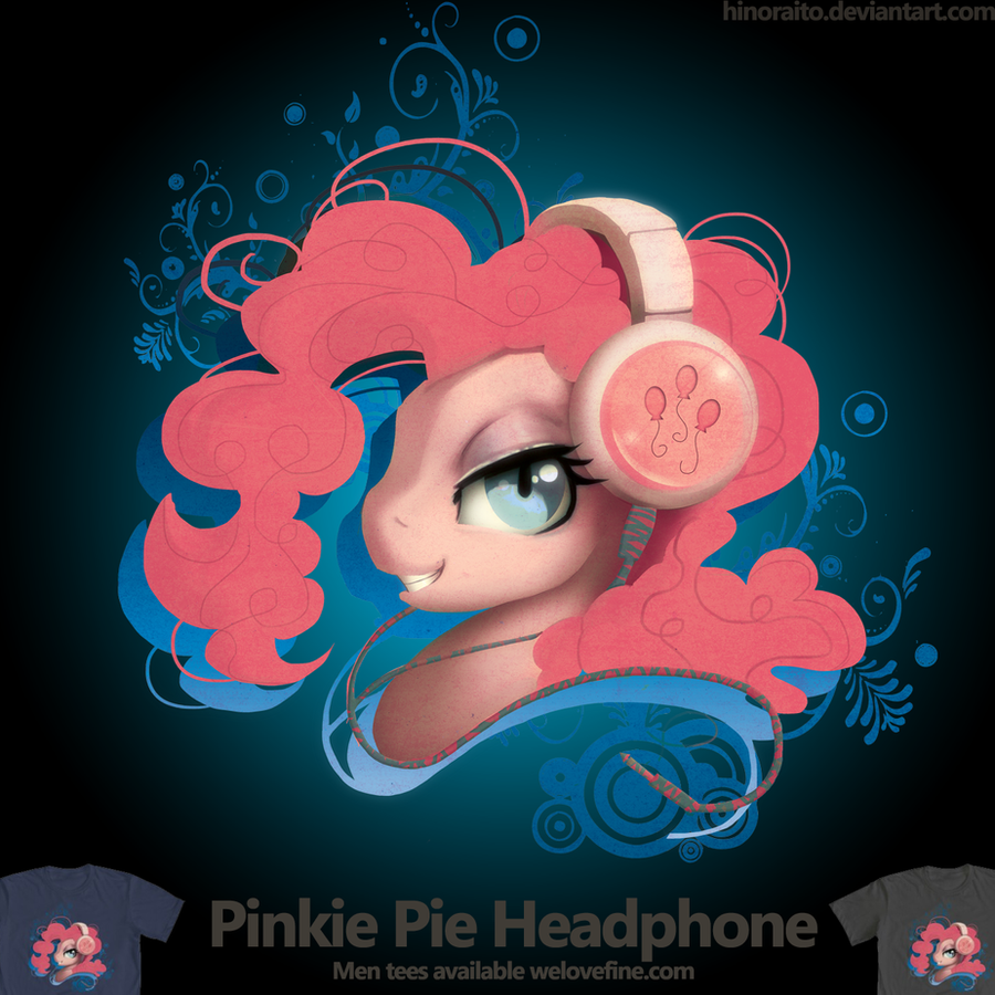 Welovefine: PinkiePie Headphone Portrait tshirt by hinoraito